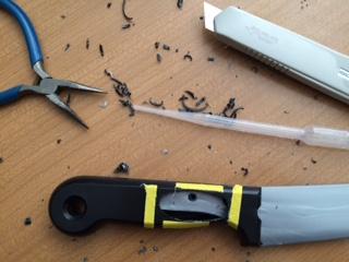 pre-pipette knife